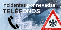 Incidentes por nevadas - TELÉFONOS DE INTERÉS